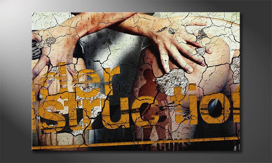 Erotic art print Under Construction