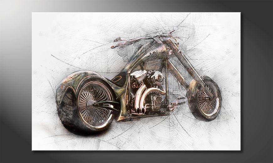 Modern Canvas print Bad Bike