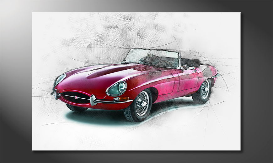 Modern Canvas print Beauty Oldtimer