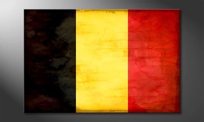 Modern Canvas print Belgium