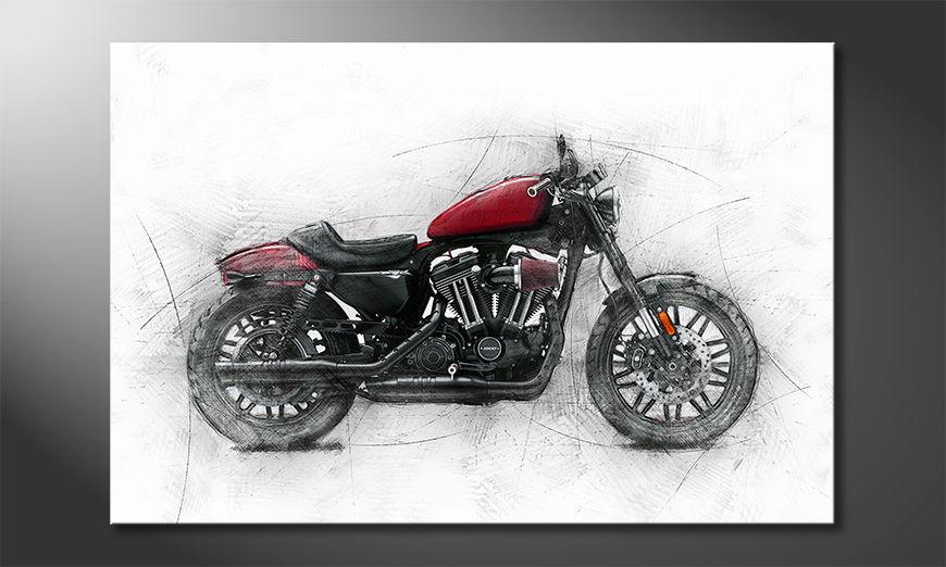 Modern Canvas print Bike 7