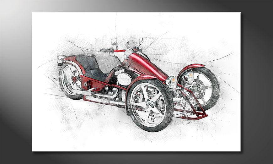 Modern Canvas print Bike 8