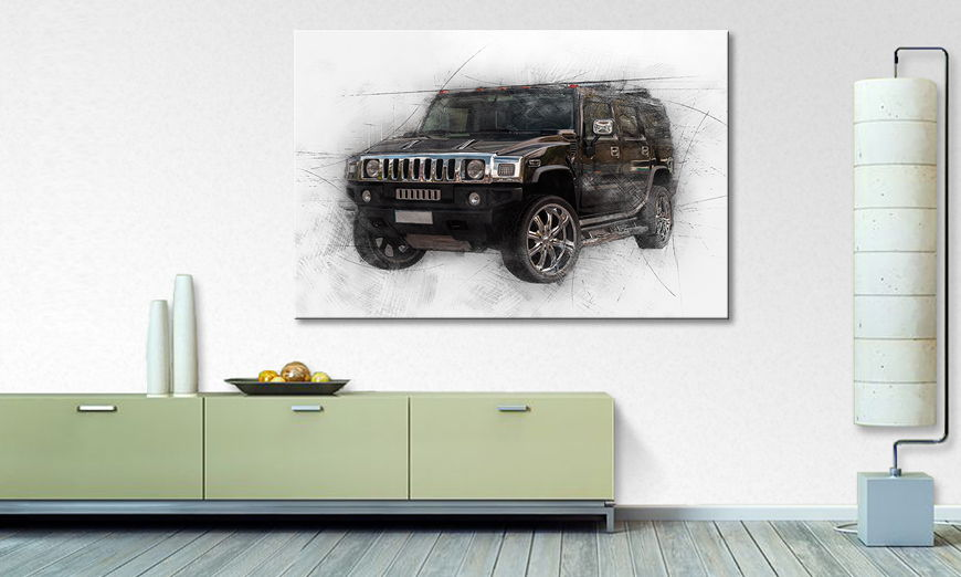 Modern Canvas print Black Muscle