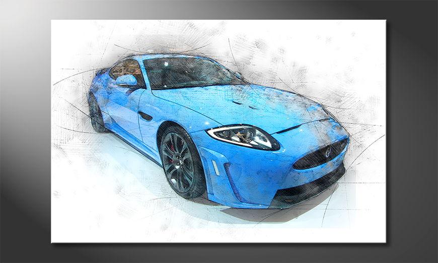 Modern Canvas print Blue Jag