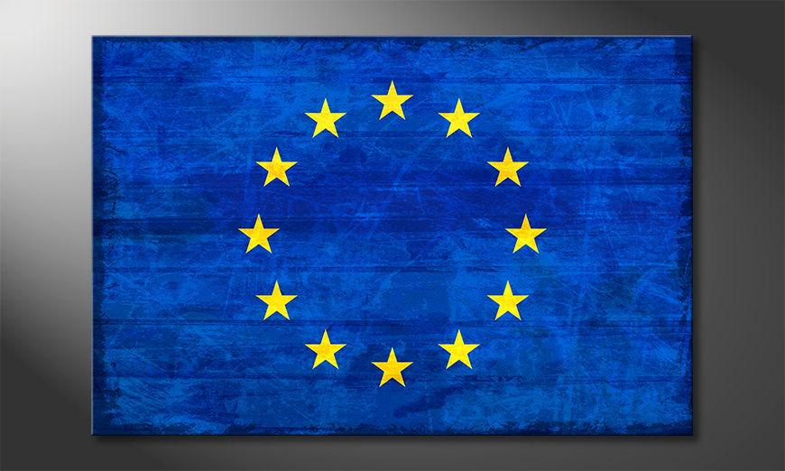 Modern Canvas print Europe