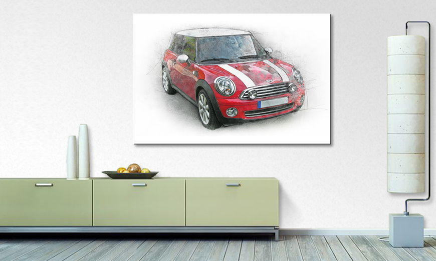 Modern Canvas print Great Mini