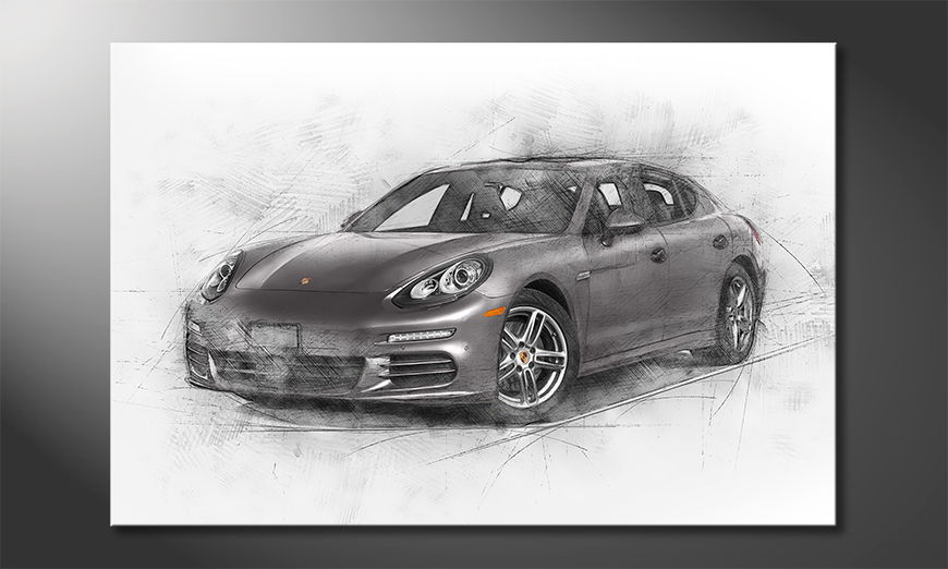Modern Canvas print Grey Power