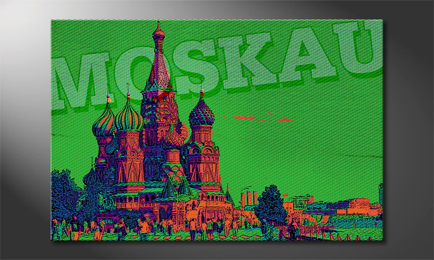 Modern Canvas print Moscow
