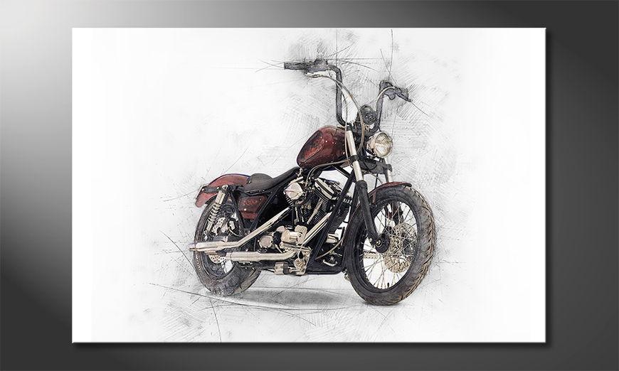 Modern Canvas print Motorbike