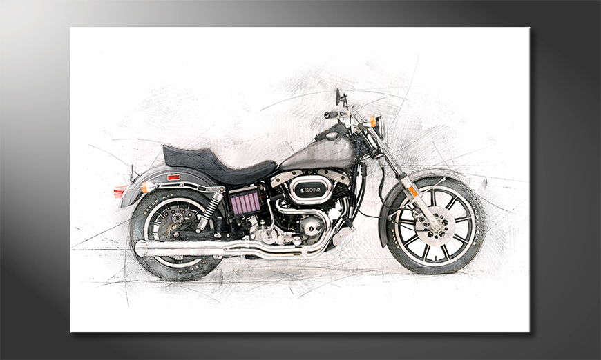 Modern Canvas print Motorcycle