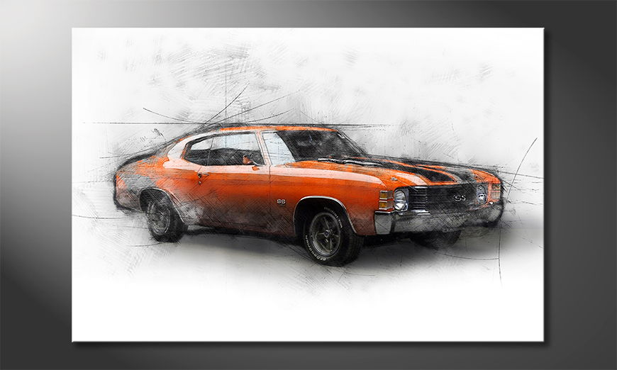Modern Canvas print Muscle Car