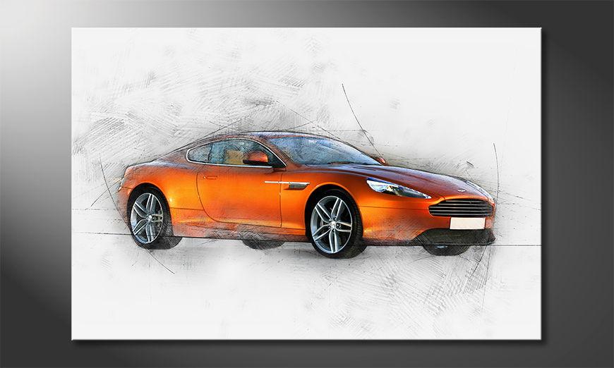 Modern Canvas print Orange Power