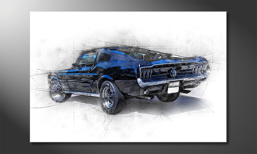 Modern-Canvas-print-Pure-Mustang