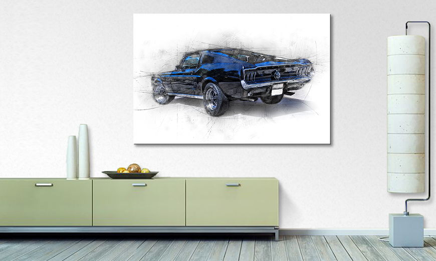 Modern Canvas print Pure Mustang