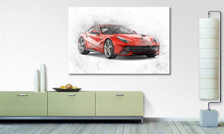Modern Canvas print Red Runner