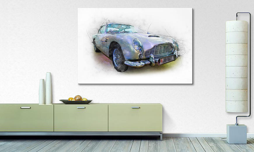 Modern Canvas print The Beauty