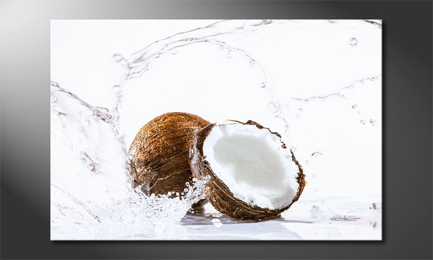 Modern art print Coconut