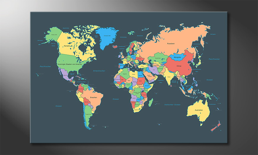 Modern-art-print-Colorful-Map