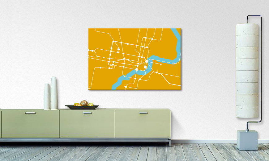 Modern art print Metro Shanghai in 6 sizes