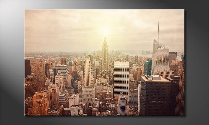 Modern art print New York Retro