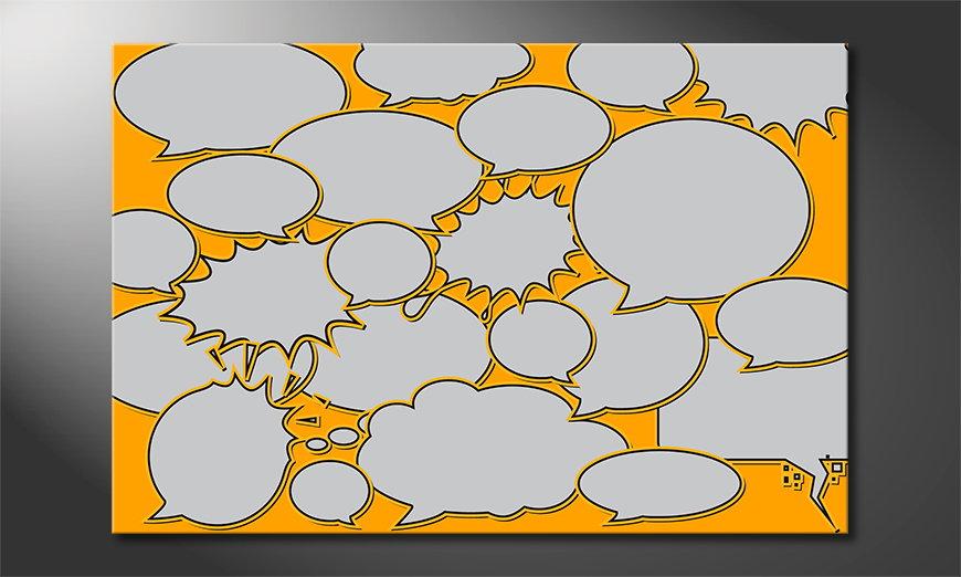 Modern art print Speech Bubbles in 6 sizes