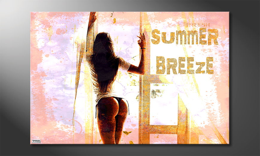 Modern art print Summer Breeze