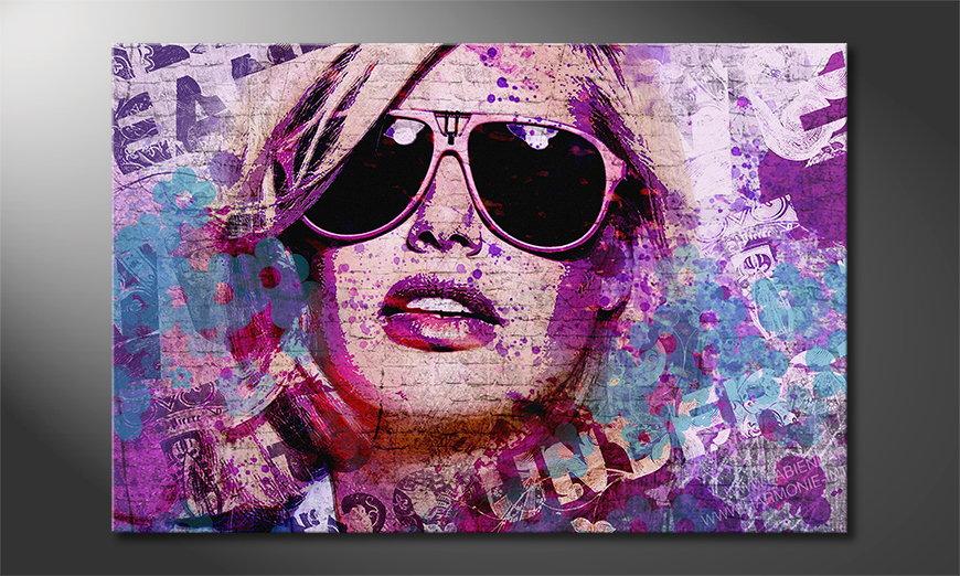 Modern art print Sunglas