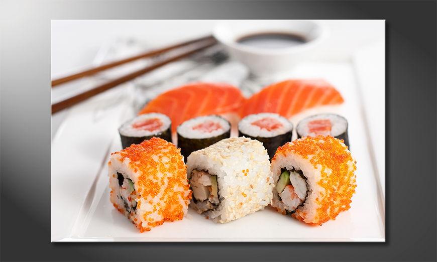 Modern art print Sushi