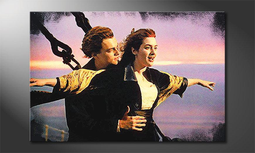 Modern art print Titanic