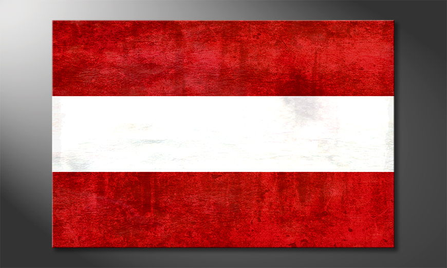 Modern canvas print Austria