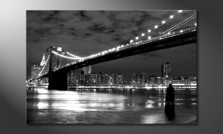 Modern canvas print Brooklyn Bridge