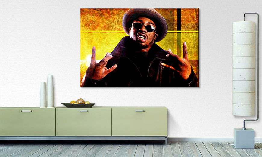Modern canvas print Dirty B in 6 sizes