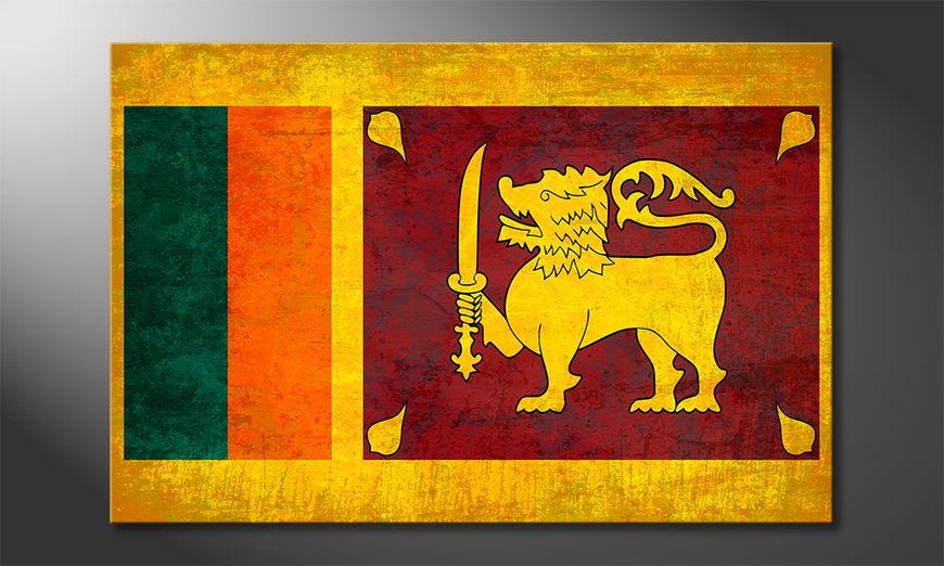Modern canvas print Sri Lanka
