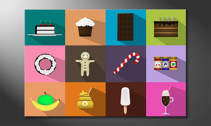 Modern canvas print Sweets For My Sweet