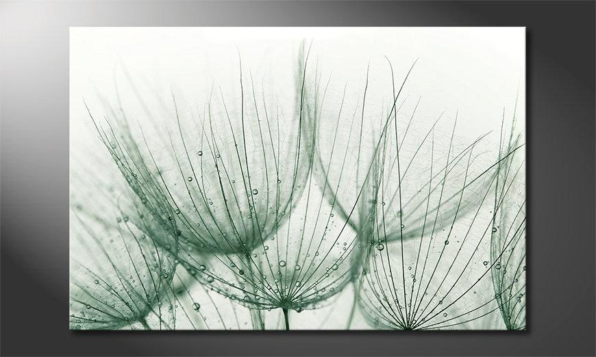 Modern print Dandelion Detail