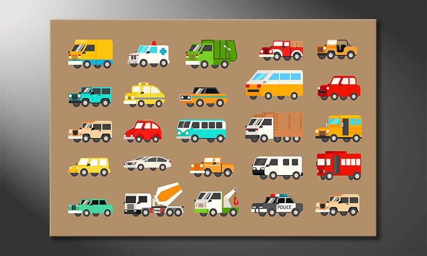Modern wall decor Funny Cars