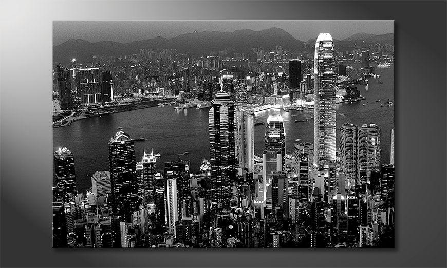 Modern wall decor Hongkong View