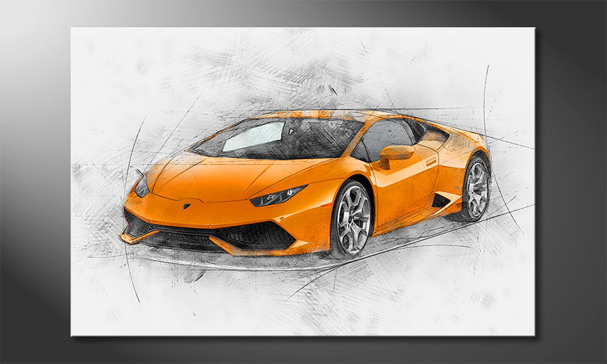 Modern-wall-decor-Lambo-90x60-cm