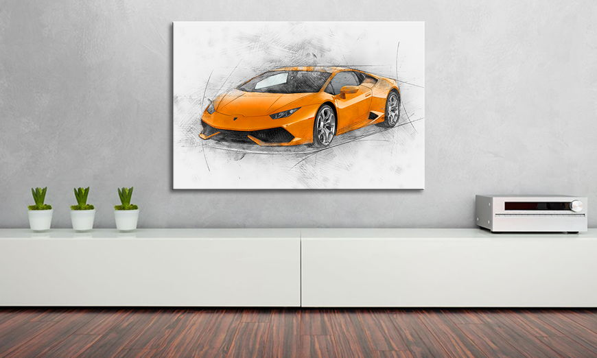 Modern wall decor Lambo 90x60 cm