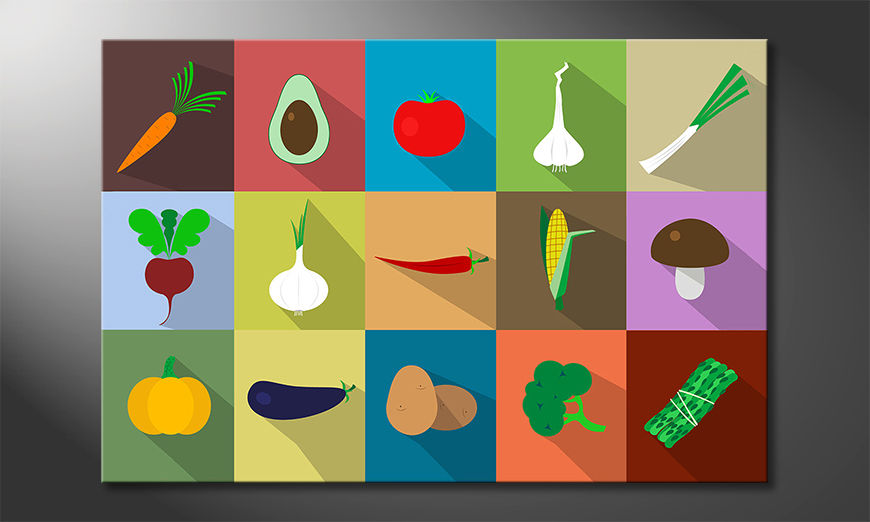 The beautiful art print Funny Vegetables