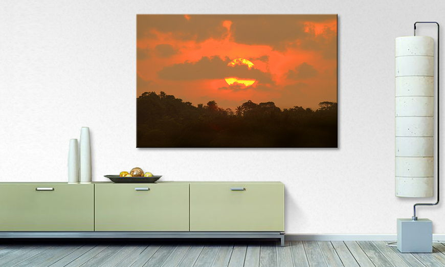 The beautiful art print Indian Sundown