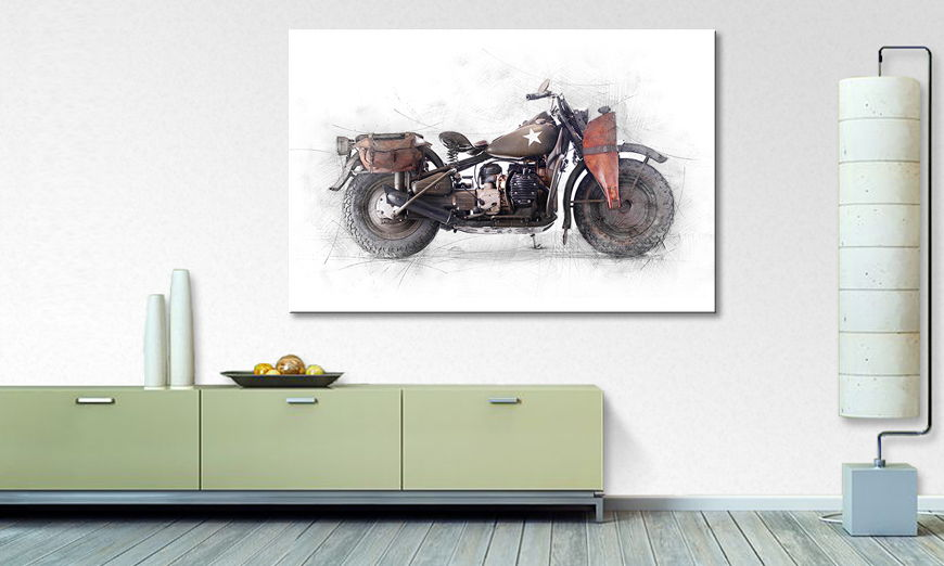 The modern Canvas print Army Davidson
