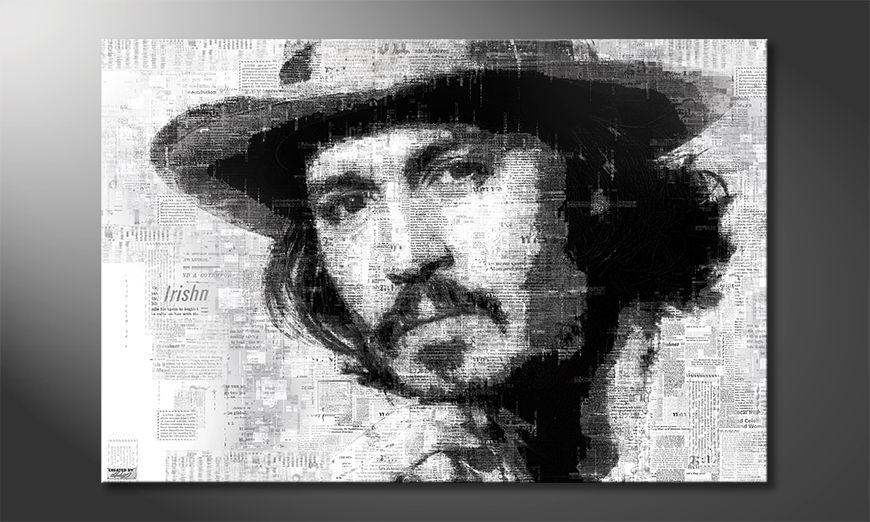 The modern art print Johnny