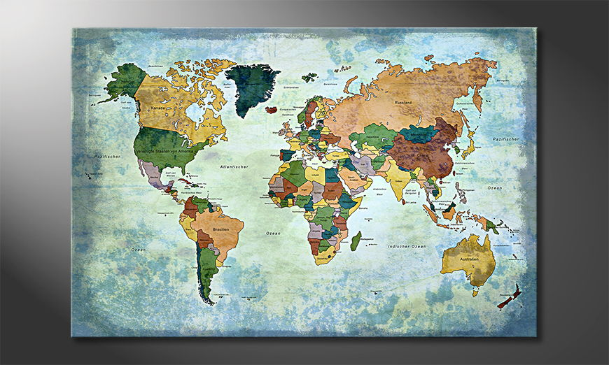 The modern art print Oldworldmap one