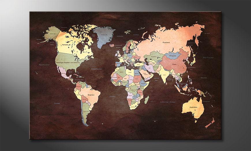 The modern art print Oldworldmap two