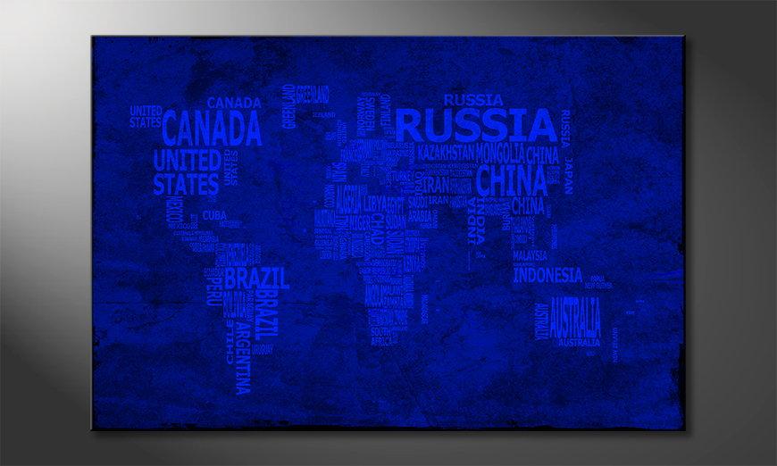 The modern art print Worldmap 10