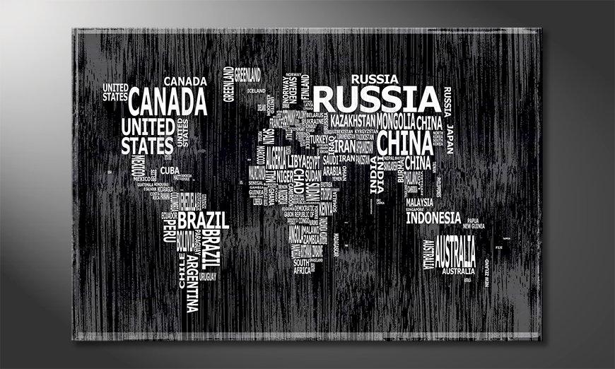 The modern art print Worldmap 13