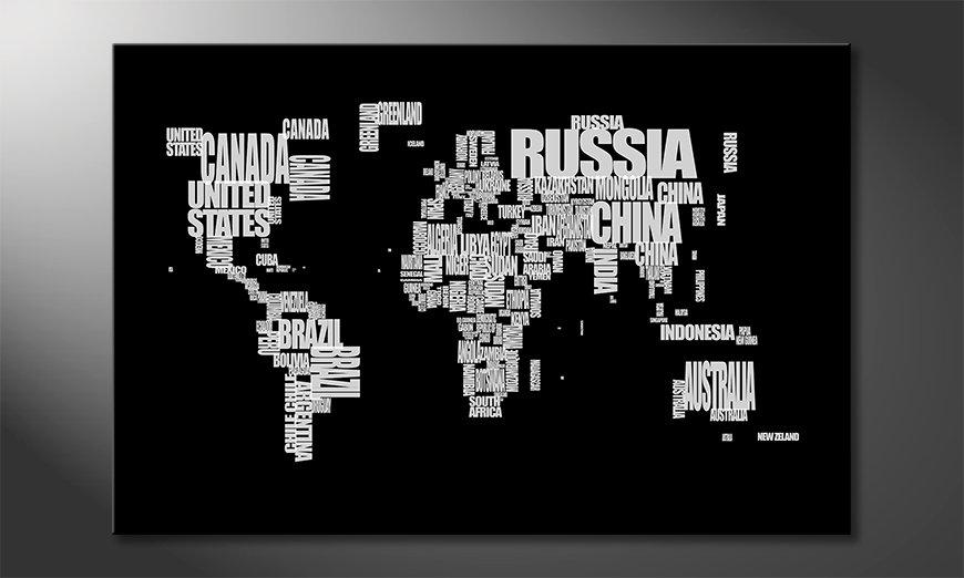 The modern art print Worldmap 14