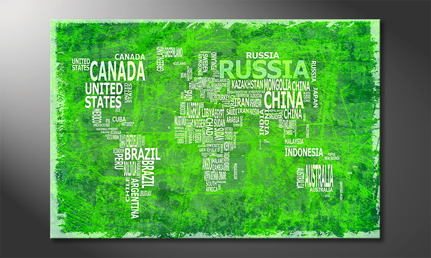 The modern art print Worldmap 16