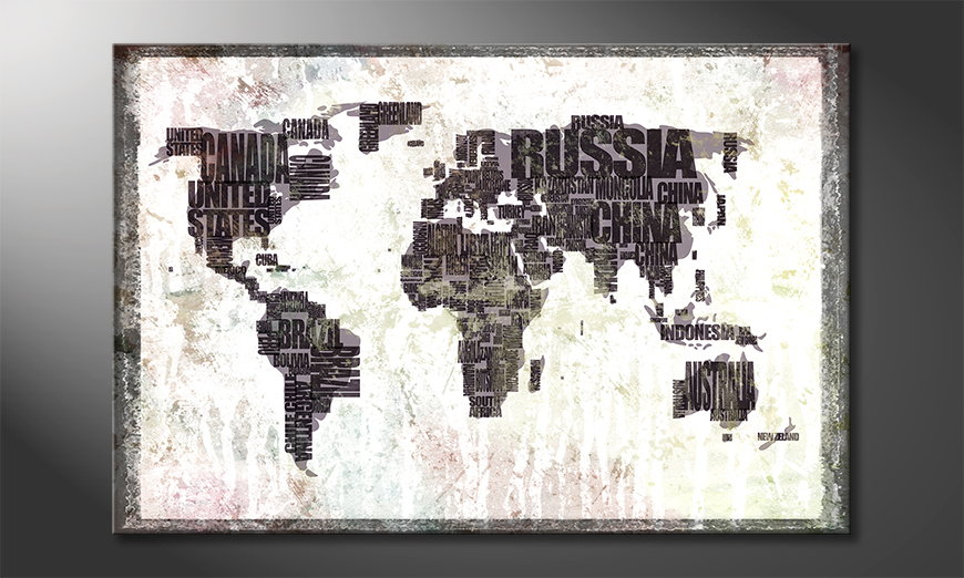 The modern art print worldmap 17 paintings xxl the modern art print worldmap 17 gumiabroncs Images